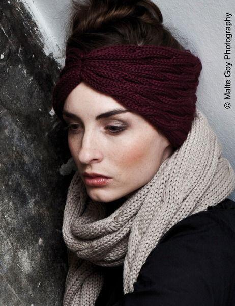 Stirnband TURBAN (Schickes Stirnband aus Wolle) von Zebratod ...