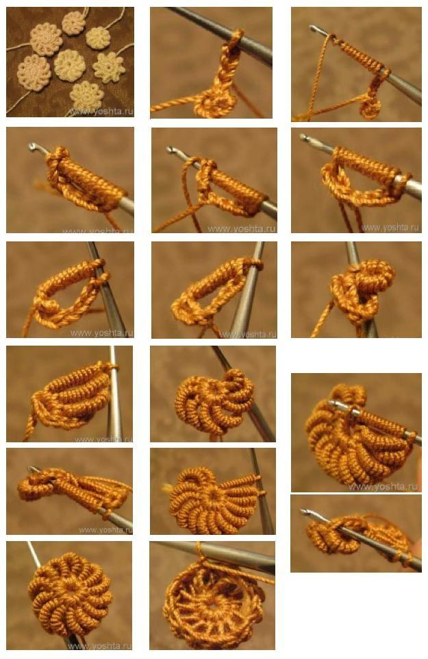 DIY Crochet Flowers: DIY Crochet Flowers DIY Crafts :Tutorial Flores ...