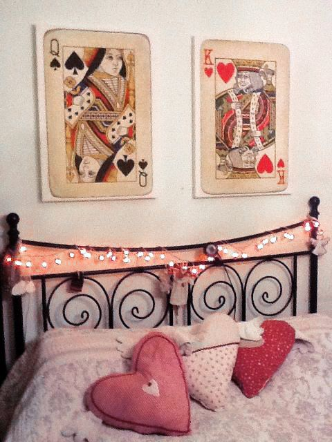 "King &I Queen bedroom wall art Painted 12""x12"" canvas with vinyl ..."