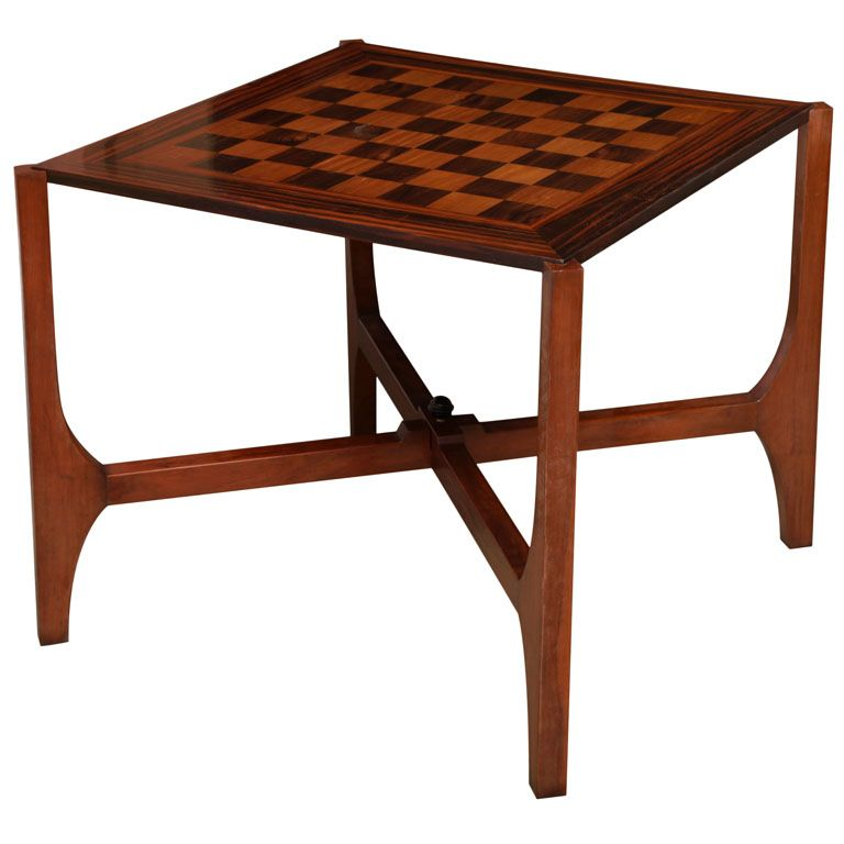 Rosewood Folding Game Table