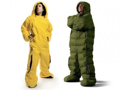 It's a sleeping bag! It's a man! It's the best sleeping bag
