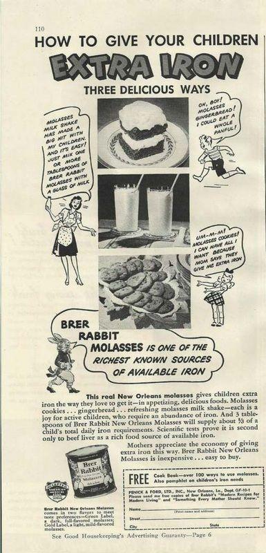 Brer Rabbit Molasses. Year unknown.