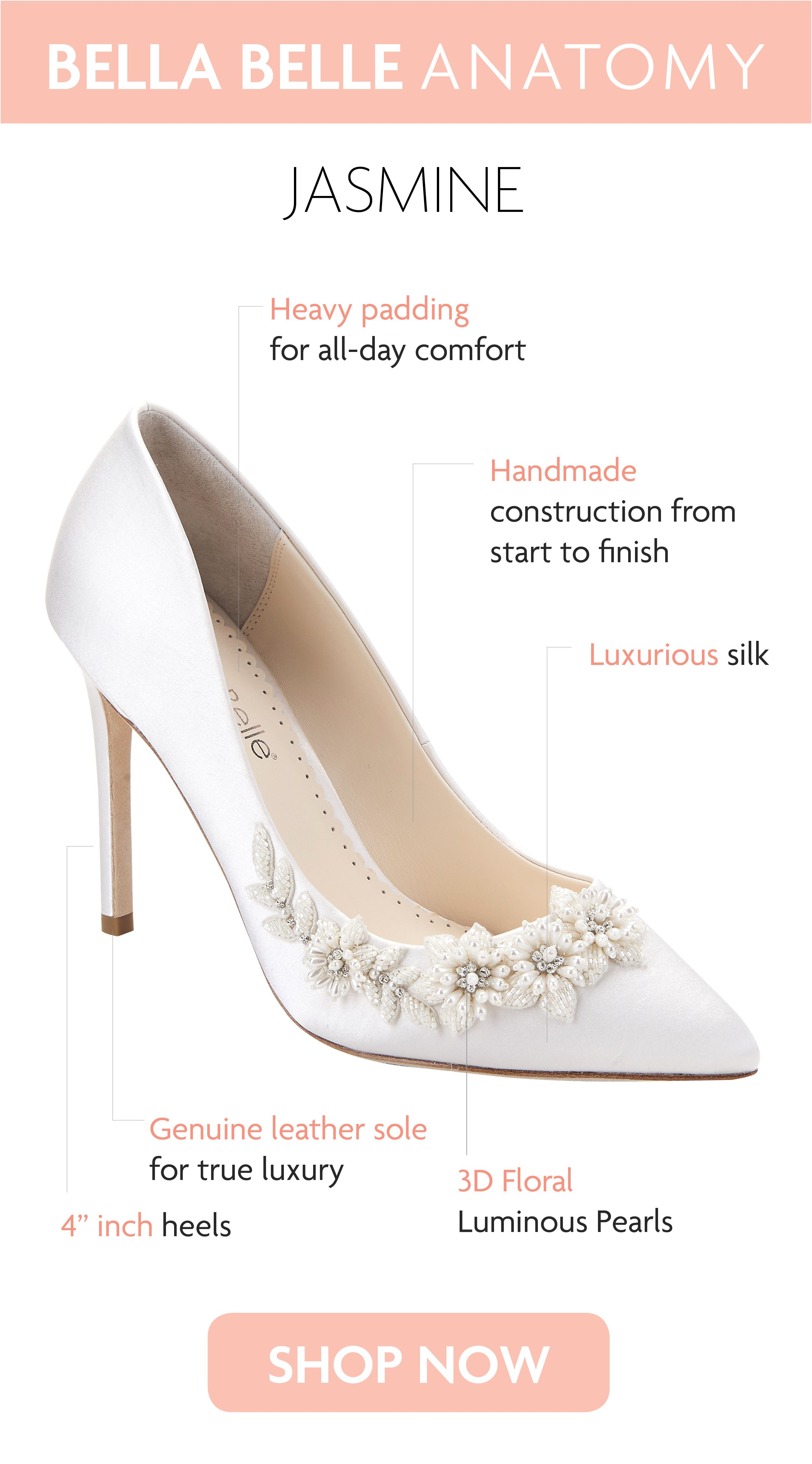 1ddc9137570f3 A fresh and feminine take on a classic ivory pump! Teardrop luminous pearls  and ivory beads are embellished in the shape of flowers and vines sweeping  up to ...