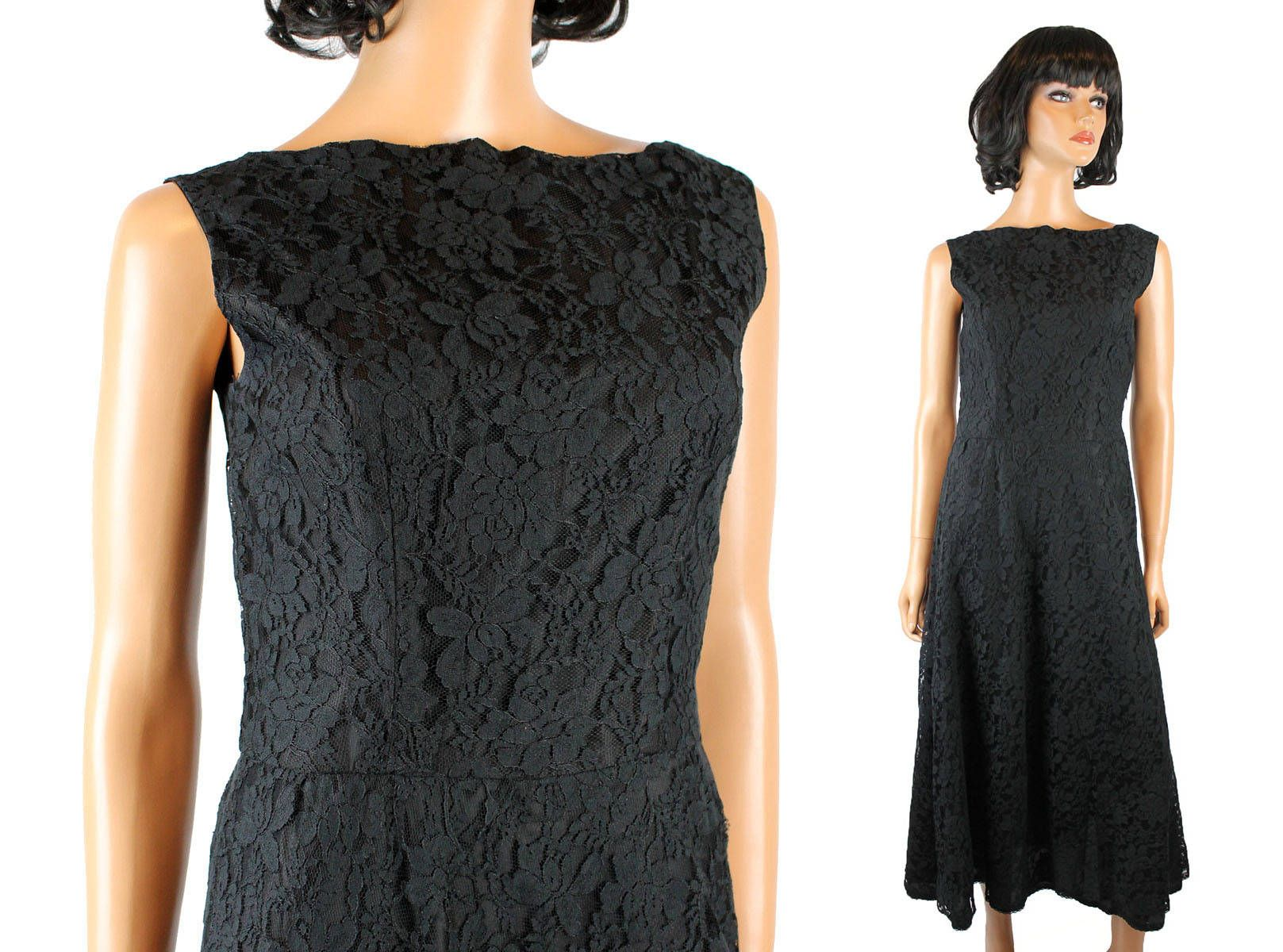 60s Cocktail Dress Sz M Vintage Black Lace Sleeveless Hourglass Low Back Gown Free Us Shipping By Hepcatcloth 60s Cocktail Dress Cocktail Dress Vintage Dresses [ 1200 x 1617 Pixel ]