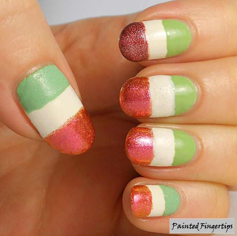 Painted Fingertips | Irish flag nails for day 28 of the #31DC2014 ...