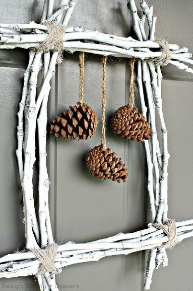 Pine Cone Twig Wreath