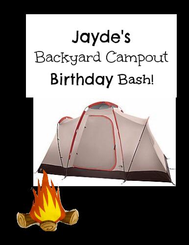 Backyard Camping Party