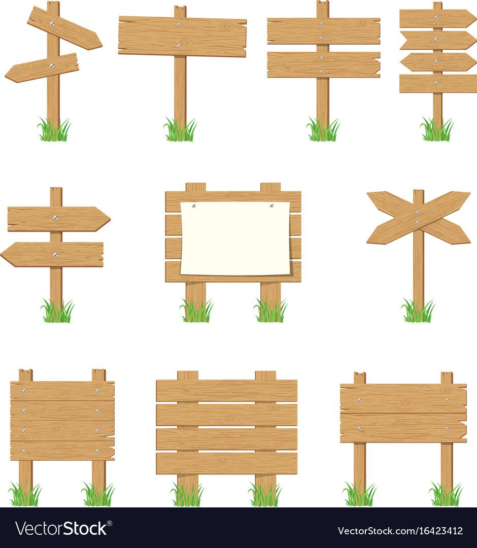 Wooden Signboards Wood Arrow Sign Set Royalty Free Vector Arrow Wood Sign Wood Arrow Wood Signage