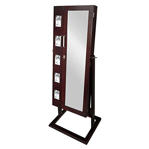 Buy Brown Mirrored Jewelry Cabinet with Picture Frame and 2 Doors - reviewshomkit.com.com ✓ FREE DELIVERY possible on eligible purchases