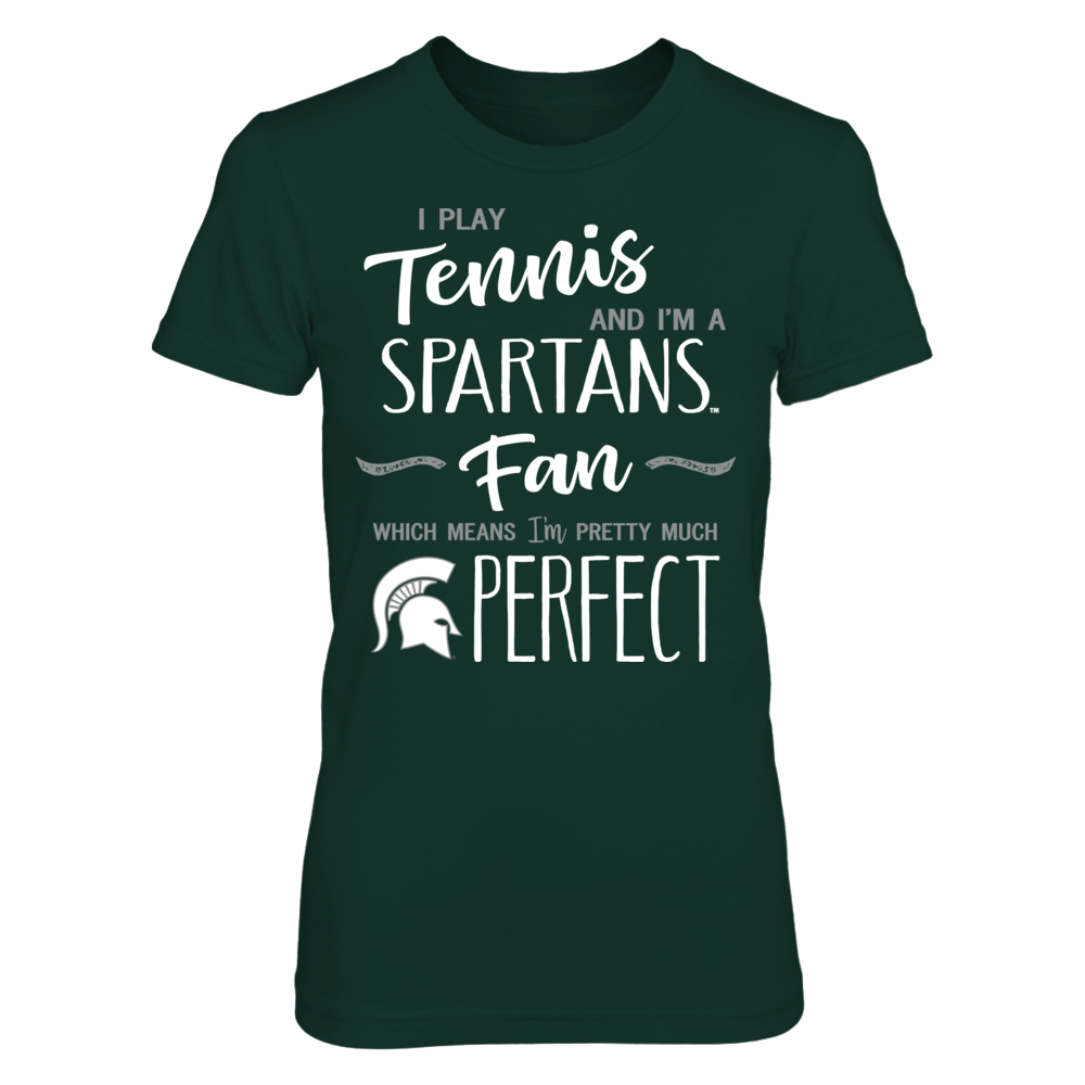 Perfect Tennis Player Michigan State Spartans Fan T Shirt Tank Michigan State Spartans Michigan State Shirt Tank Shirt