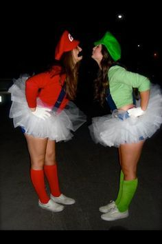mario and luigi bestfriends halloween costume