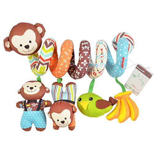 Totmart Monkey Baby Activity Spiral Toy Stroller Bed Hanging Toys Car Seat