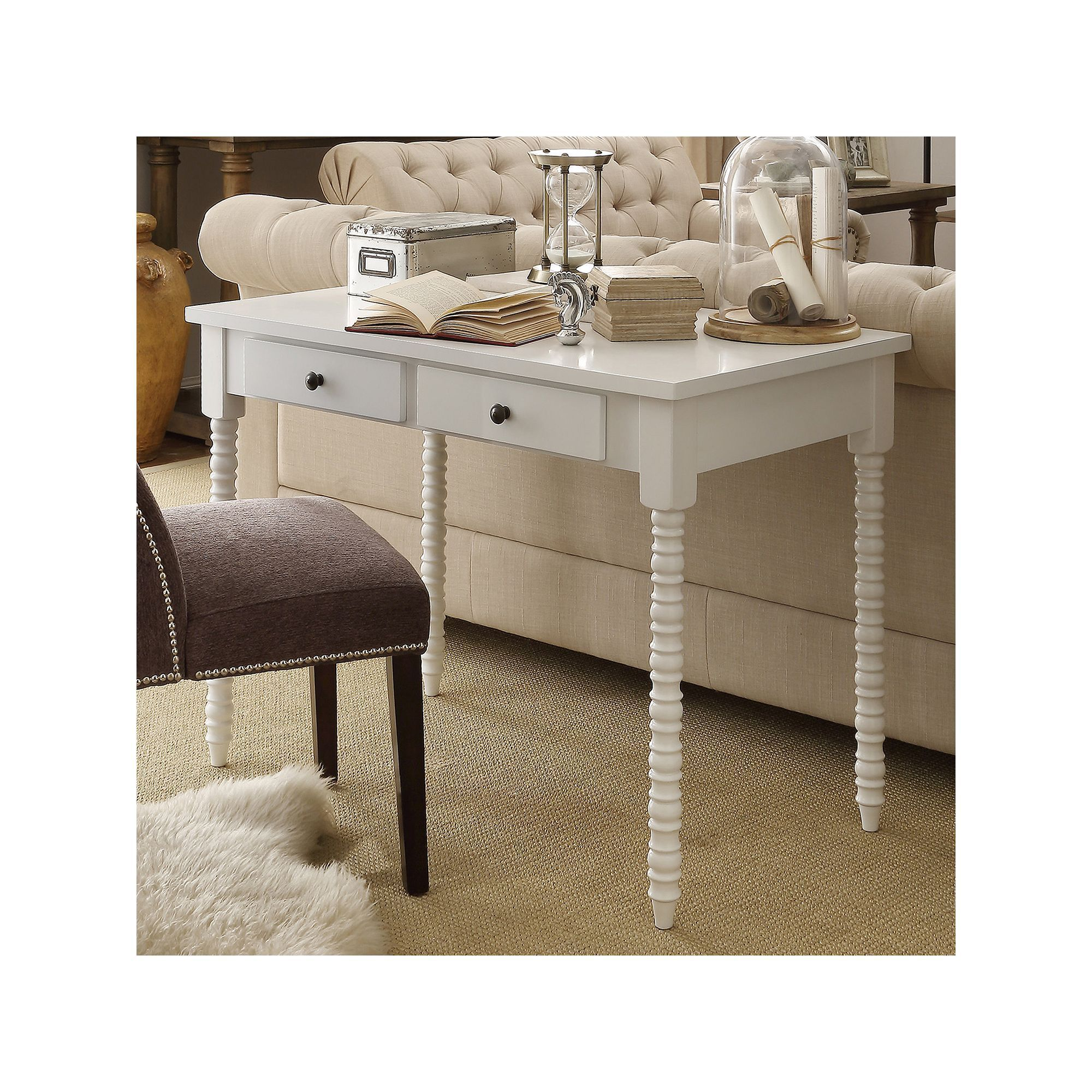 b writing white studio tone m distressed wash drawers drawer provincial desk two style baxton p store edouard french with