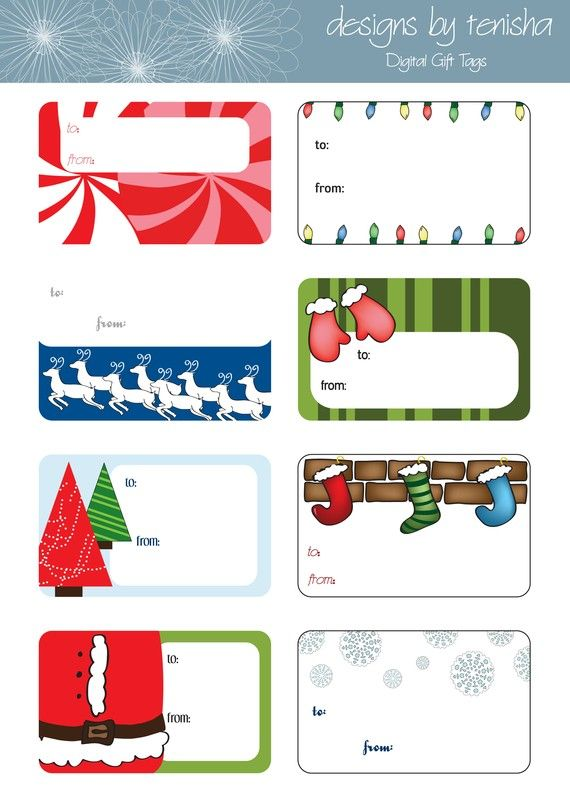 Holiday Gift Tags, Christmas Gift Tags, Digital, Printable, DIY