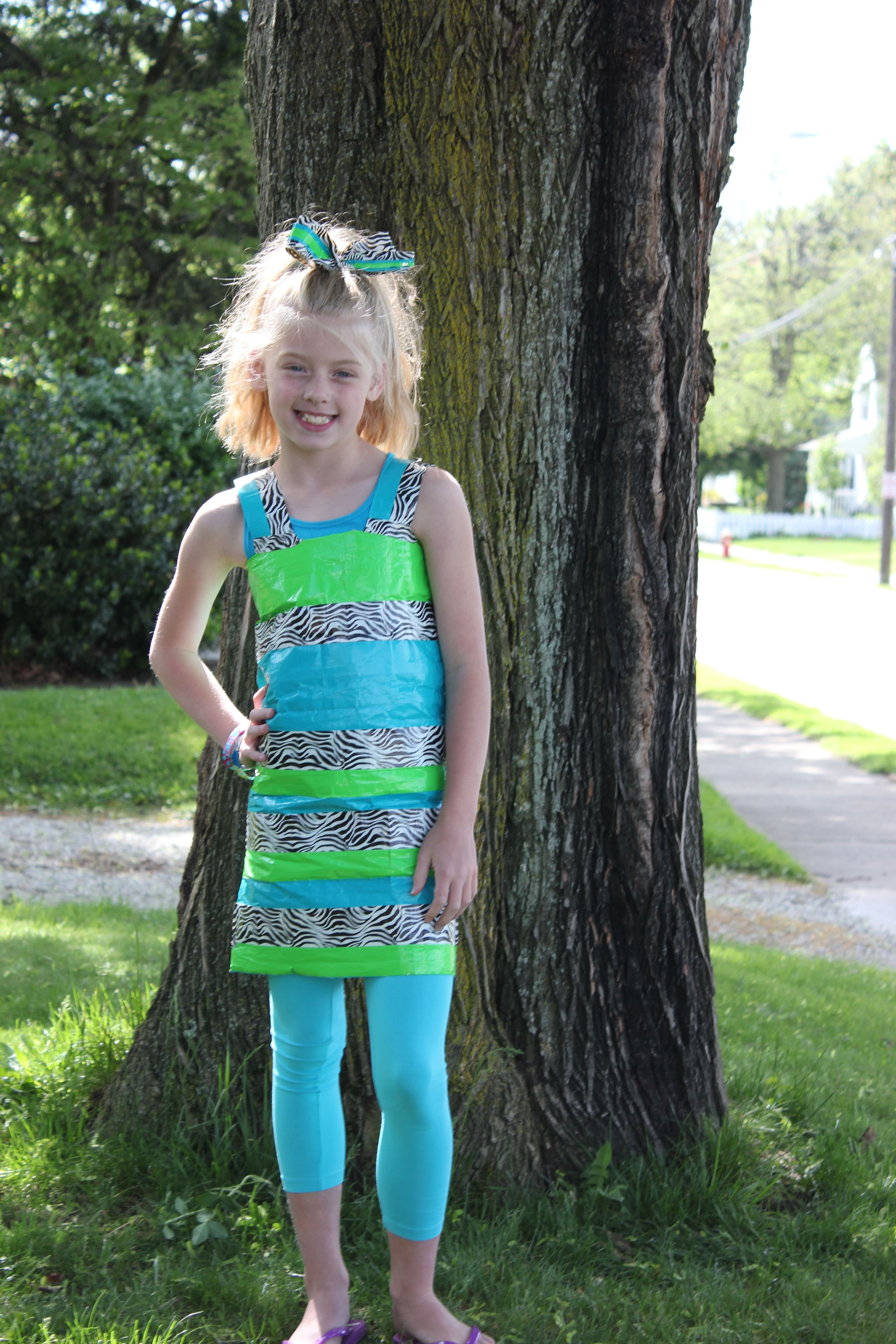 My daughter made this dress for her sister(pictured), for duct ...
