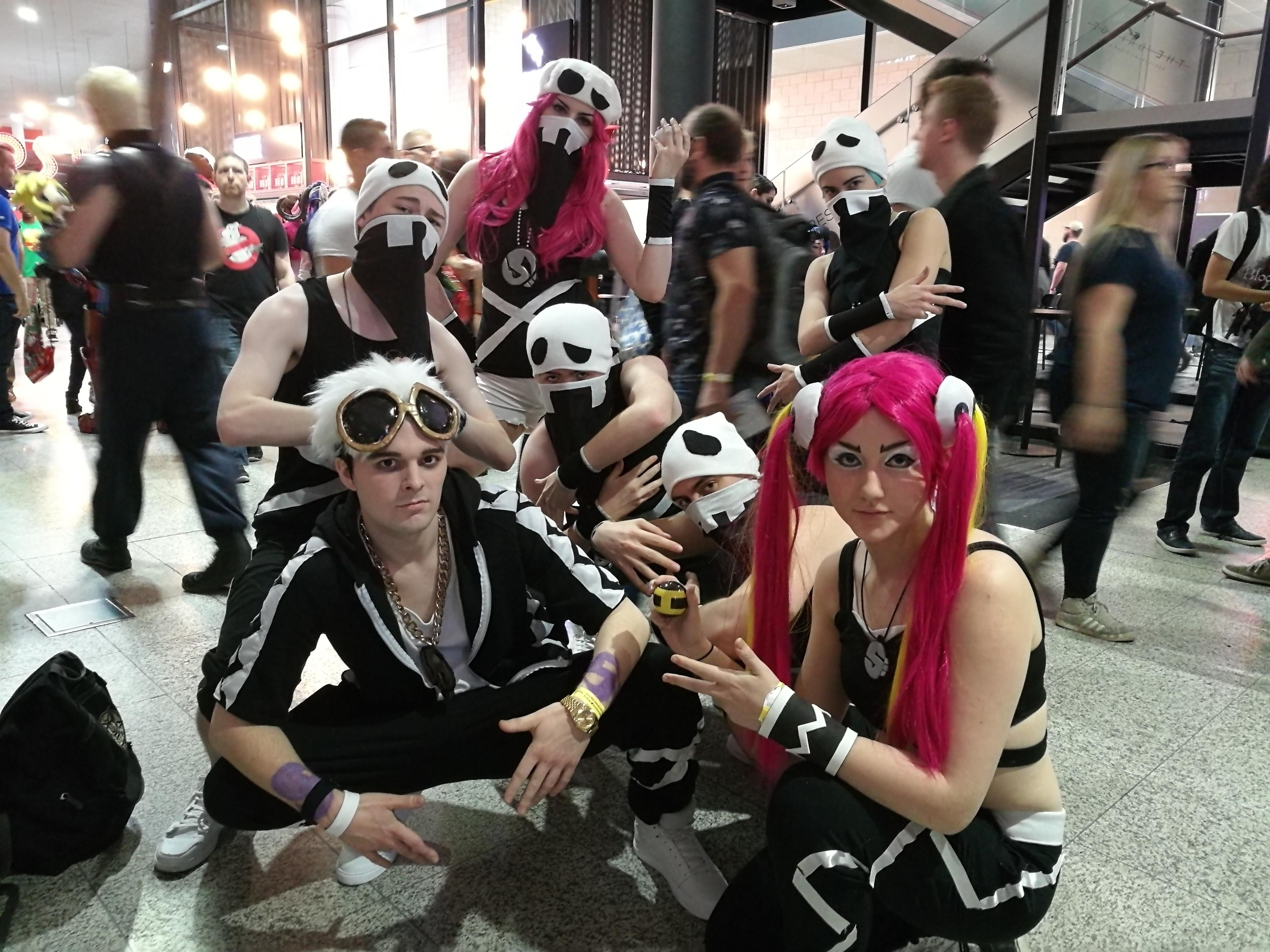 Our group Team Skull cosplay for London MCM Expo!