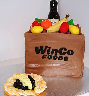 Stupendous Winco Brown Bag Cake 2 Realistic Cakes Food Bag Cake Funny Birthday Cards Online Overcheapnameinfo
