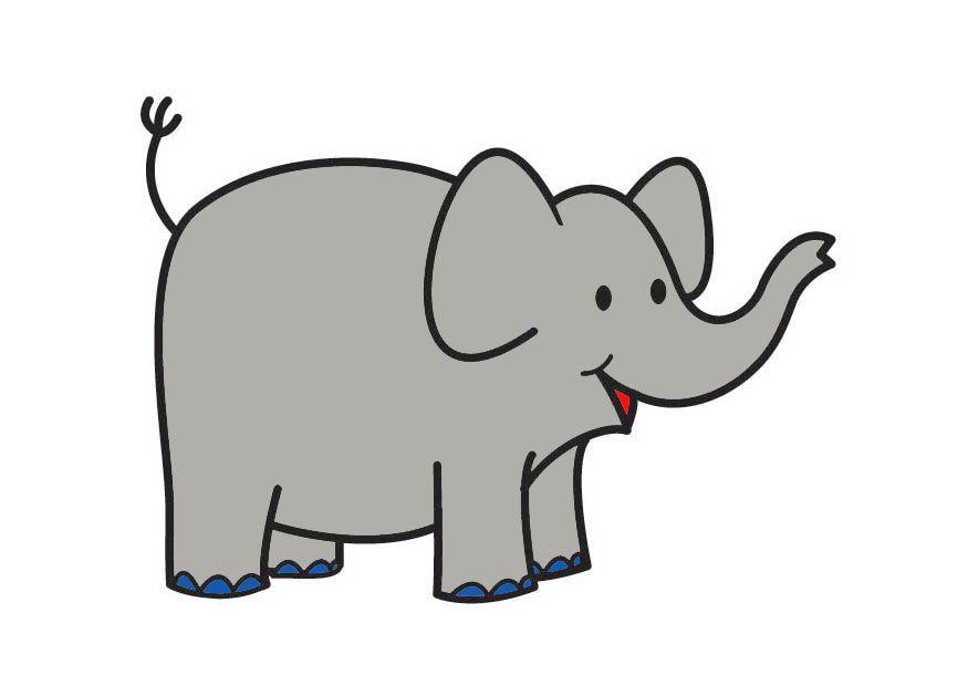 Afbeeldingsresultaat voor baby olifant tekening