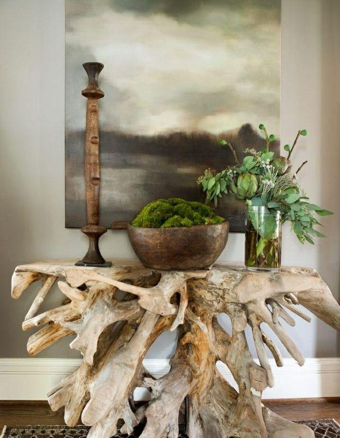 Treibholz Tisch - kreative Ideen für ein sommerliches Flair im Haus ...