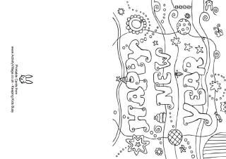 Happy New Year Colouring Card New Year Coloring Pages