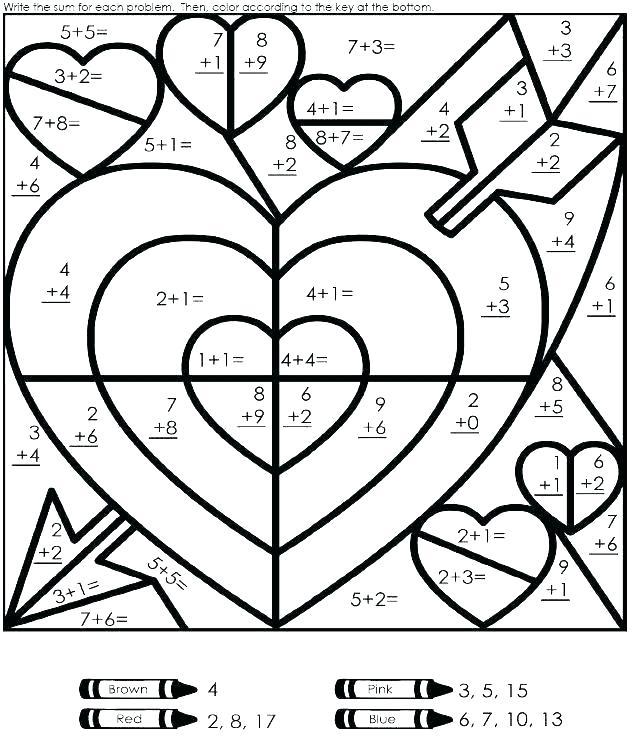 Grade Math Multiplication Coloring Worksheets Science