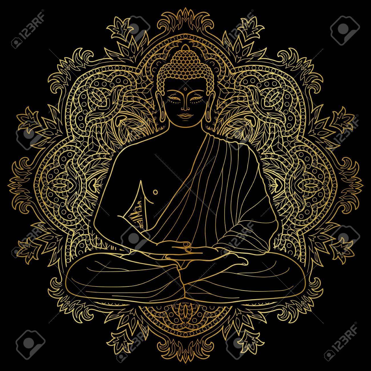 Mandala Buddha Head Men/'s Tee Image by Shutterstock