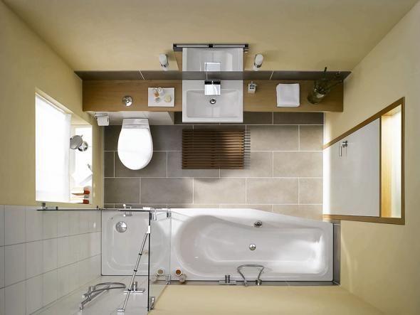 Kleines Bad Große Lösungen Raumsparwanne Waschplätze Und - Kleine badezimmer losungen