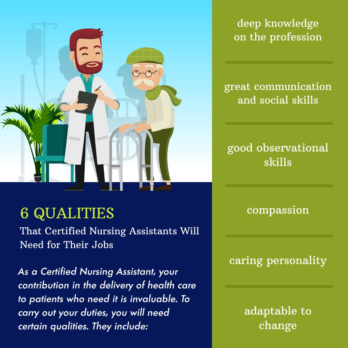 6 qualities that certified nursing assistants will need