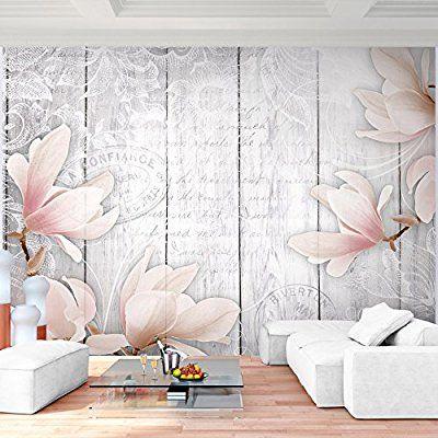 Fototapete Blumen 396 x 280 cm - Vliestapete - Wandtapete - Vlies