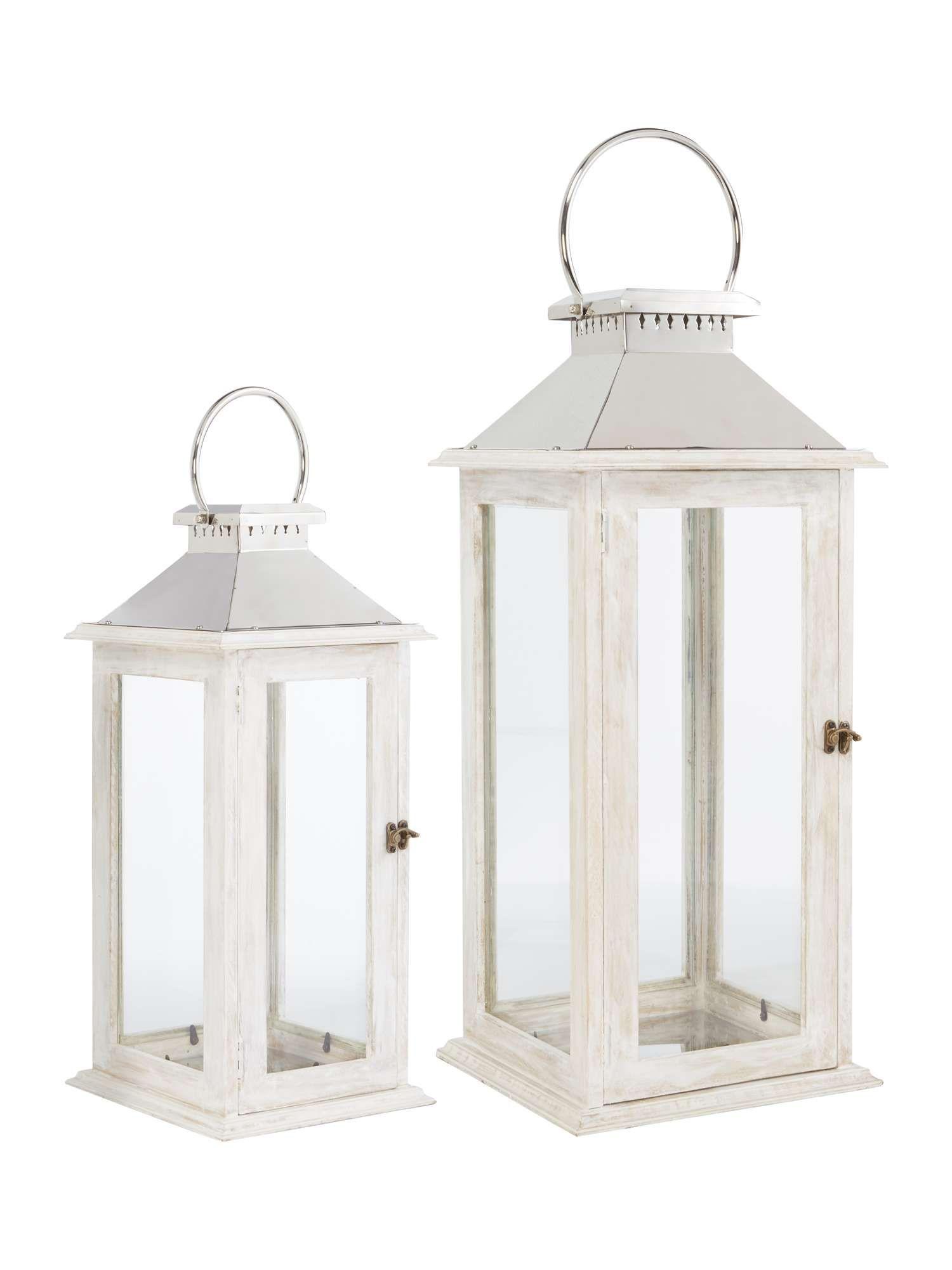 Linea White Wooden Lantern Small House Of Fraser White Wooden Lantern Wooden Lanterns White Candle Lanterns