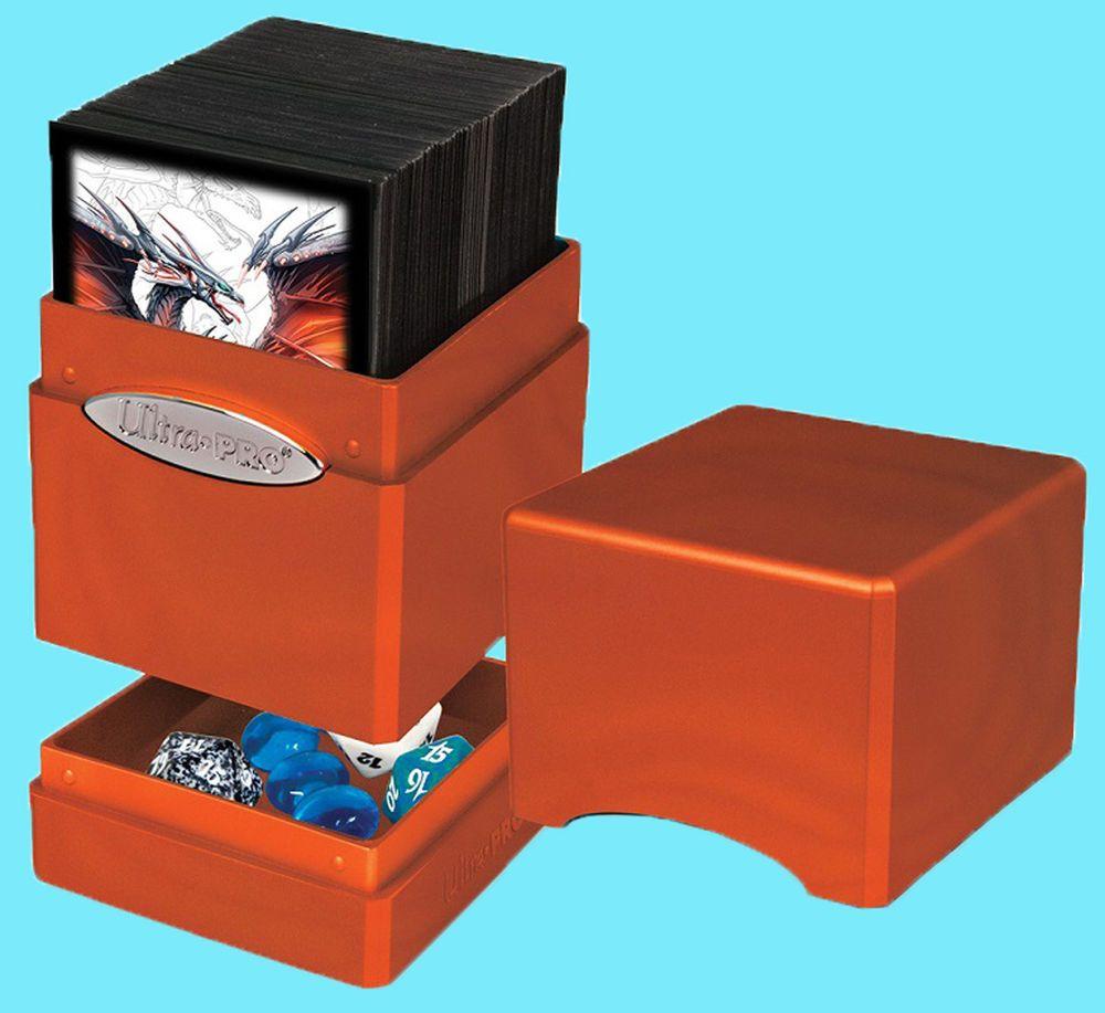 Ultra Pro Hi Gloss Metallic Pumpkin Satin Tower Deck Box Card Dice