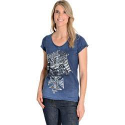 Wcc Loudest & Fastest Louis Special Damen T-Shirt blau L Wcc