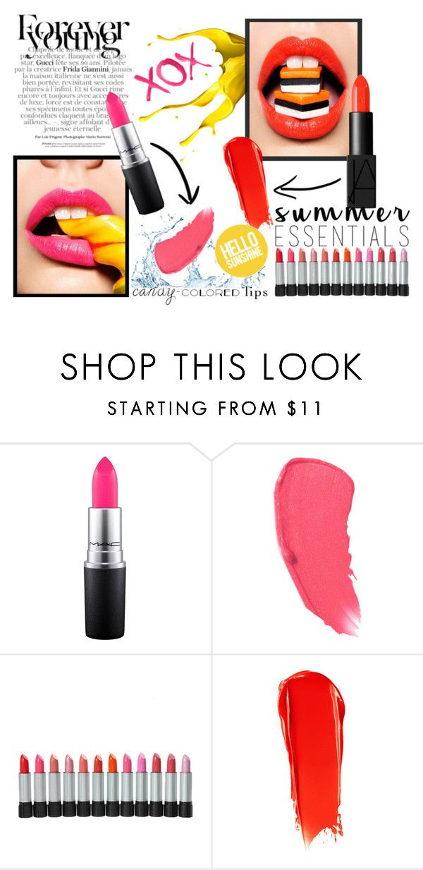 """""""summer lipstick"""" by jul-2981 ❤ liked on Polyvore featuring beauty, MAC Cosmetics, Chanel, NARS Cosmetics and GALA"""