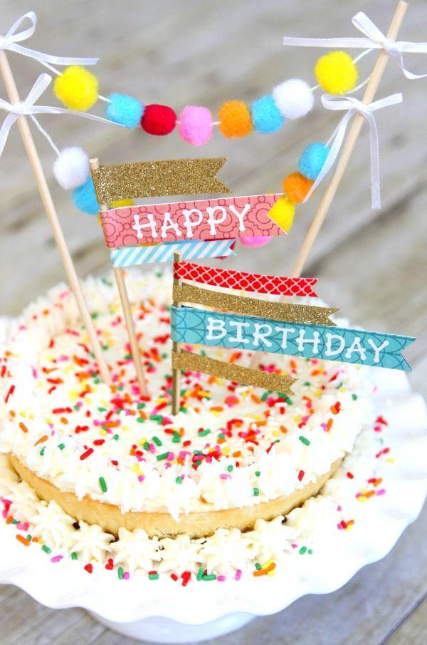 Diy Cake Toppers Diy Cake Topper Diy Birthday Cake Diy Cake Topper Birthday