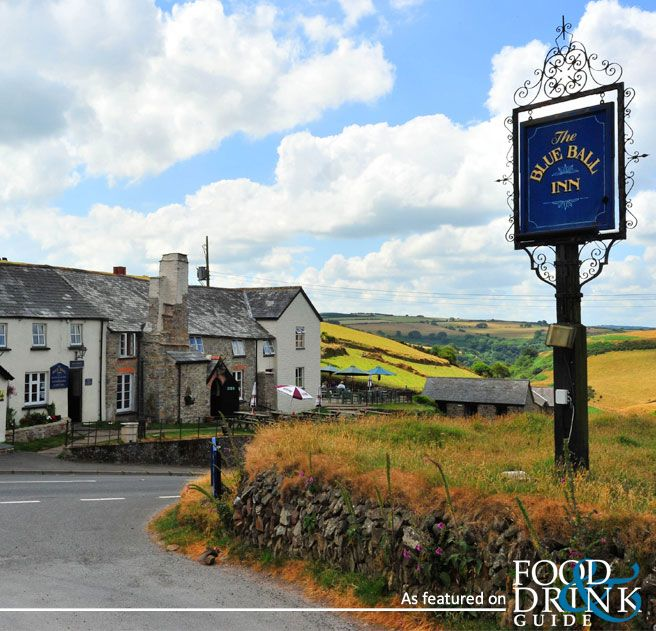 I think the Blue Ball is one of Exmoor's loveliest traditional inns. It's in Countisbury, Devon, UK and surrounded by hiking trails with the most spectacular views.