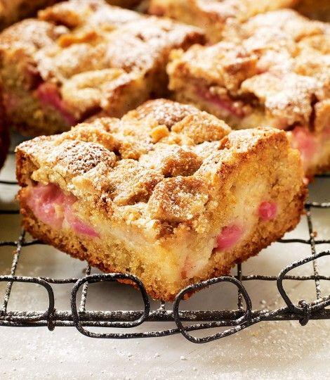 Rhubarb And Soured Cream Crumb Cake Recipe Delicious Magazine Rhubarb Recipes Crumb Cake Recipe Cake Recipes