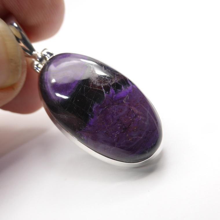 Amethyst Crystal Gemstone Heart Pendant Black Cord Necklace Reiki Birthstone 3cm