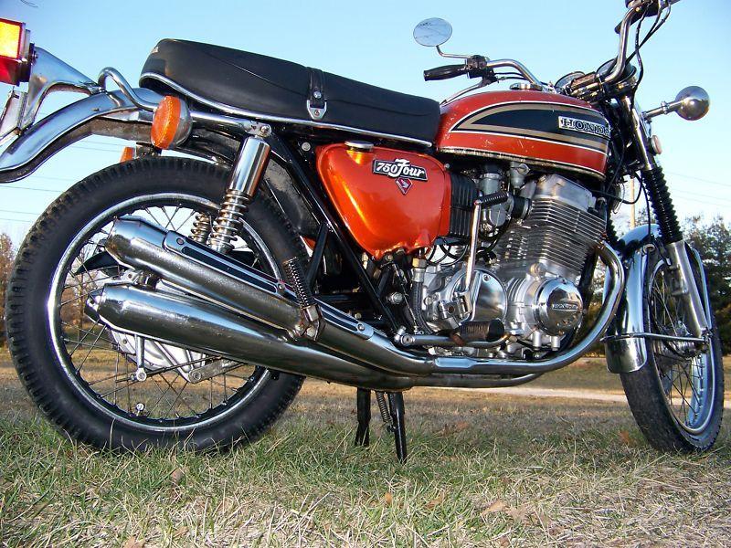 Honda cb cadillac joe ds virtual motorcycle museum hall of 1975 honda cb 750 flake sunrise orange no reserve vintage cb750 4 publicscrutiny Choice Image