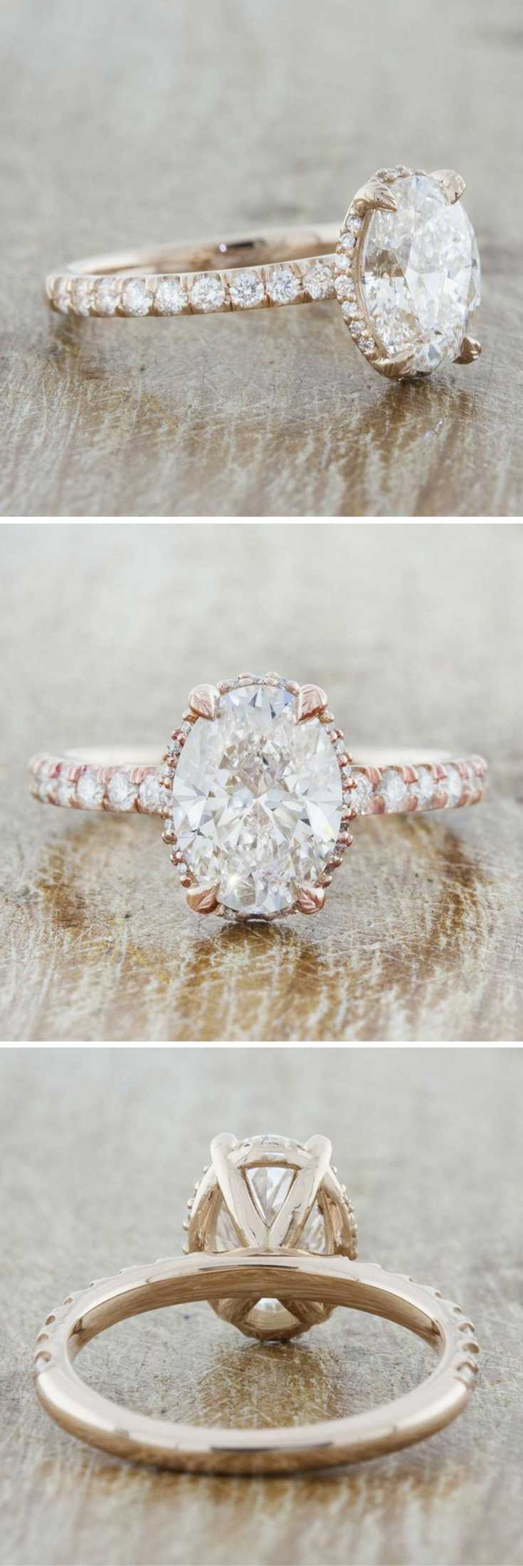 Rose gold solitaire engagement ring rose gold engagement gold