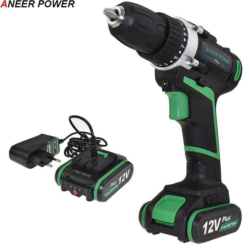 Aneerpower 12v Plus Battery Power Tools Electric Screwdriver Cordless Mini Aneerpower Plus Battery Powe Electric Screwdriver Cordless Drill Electric Drill