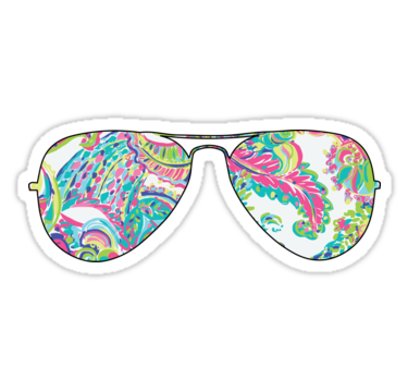 Sunglasses Sticker By Caro111111 Preppy Stickers