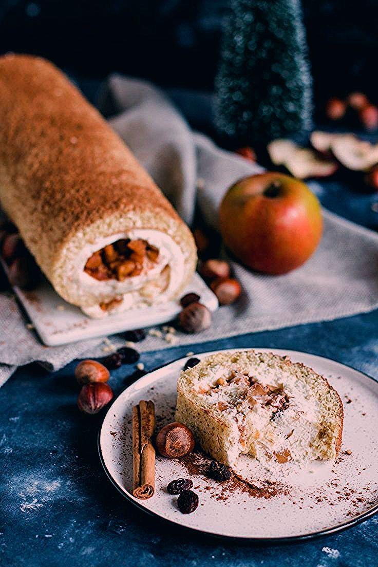 Photo of Weihnachtliche Bratapfel Biskuitrolle | Madame Dessert