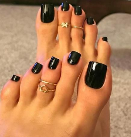 43 ideas fall pedicure colors black pedicure  acrylic