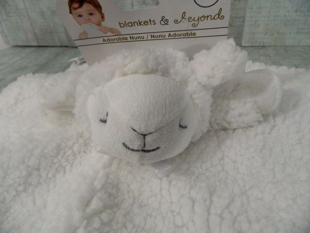 30f7292c9e Blankets and Beyond Security Blanket Lamb White Sherpa Baby Lovey Nunu New   BlanketsandBeyond  NunuBlanky