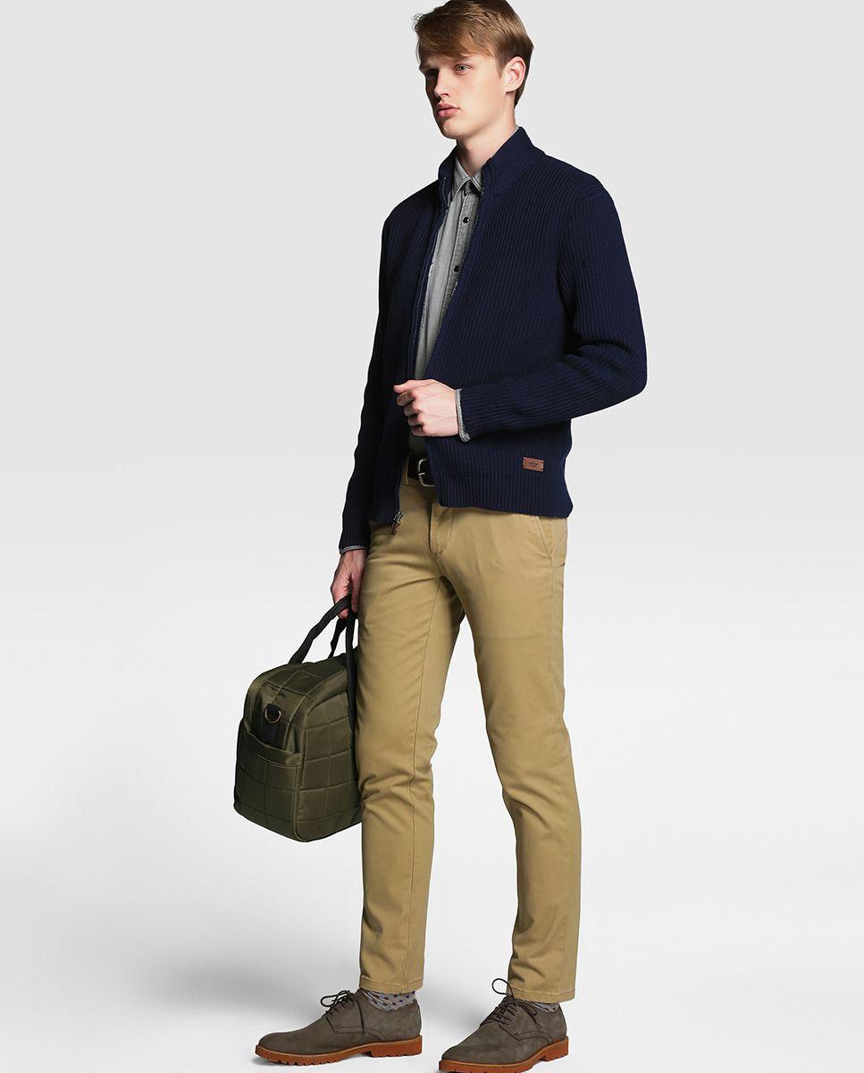 Chaqueta De Hombre Dockers De Punto Azul Chaqueta Hombre Chaquetas Pantalones Khaki