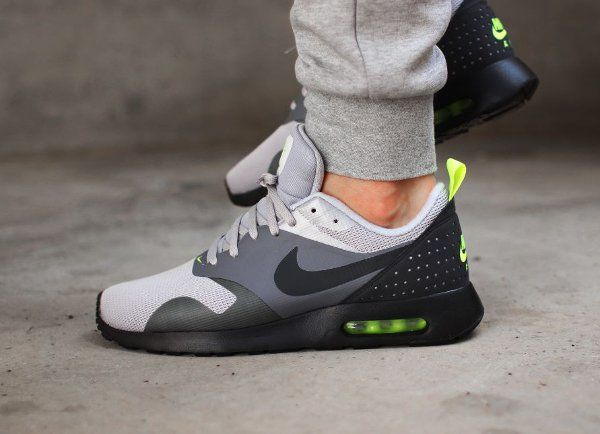 New Nike Air Max 2014 Cheap sale Wolf Grey Black Turbo Green 621