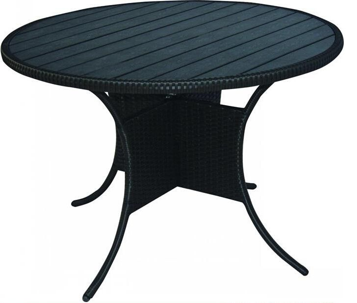KD structured outdoor dining table with wooden top  http://enjoygroup.en.alibaba.com/product/60302623048-209347042/KD_structured_outdoor_dining_table_with_wooden_top.html