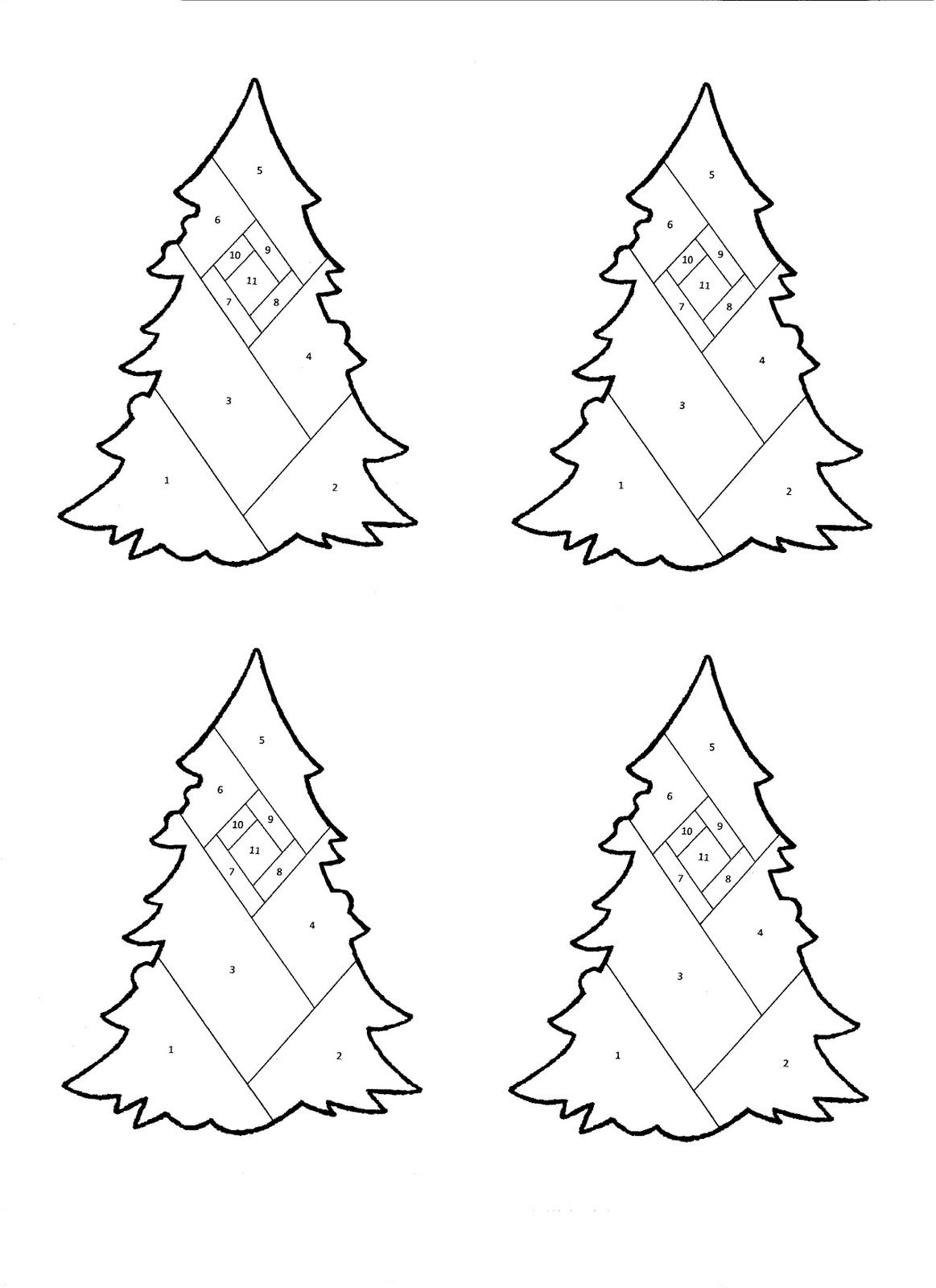 The Born Doodler Iris Folding Christmas Tree Pattern