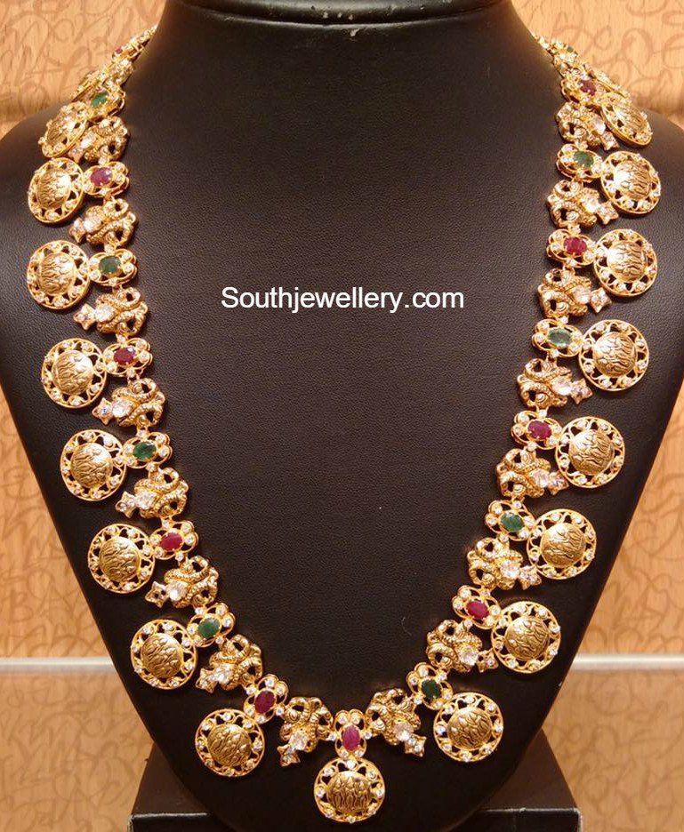 Ram Parivar Kasu Haram Jewellery Designs Gold Jewelry Fashion Jewelry Patterns Jewelry Design