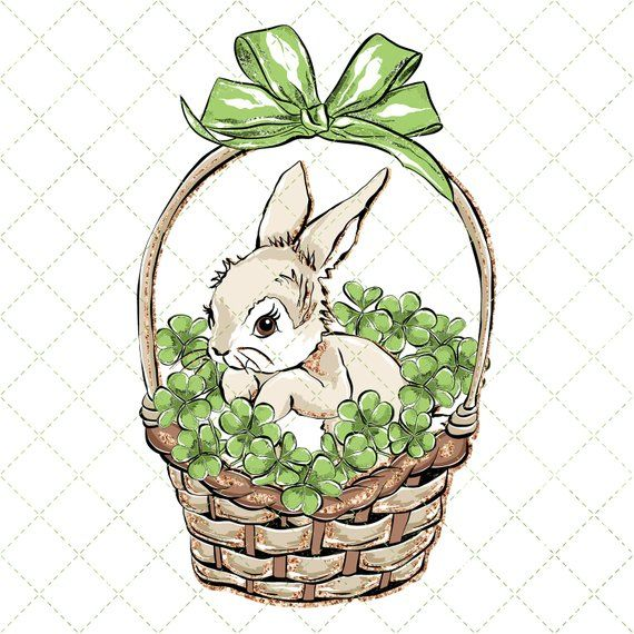 Spring Rabbit Watercolor Clipart, Bunny Clipart, Easter ...